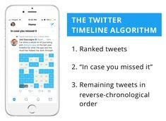 Twitter timeline algorithm summary