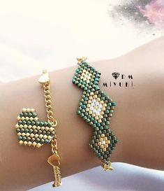 Yeşil - - - - - - - - - - - - - - - - - - - - - - - - - - - #miyuki #bileklik #bracelet #jewelry #design #handmade #trend #fashion #takı #like4like #style #instagood #art #happy #instadaily #love #instalike #colorful #green #tarz #girl #beautiful #beauty #fashion #moda #accessories #aksesuar #gold #taki #silver #today