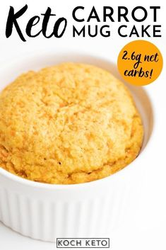 Our keto carrot mug cake is moist, sweet, and incredibly delicious! And unlike the original, it is also super easy & quick to make – you can enjoy it in just 10 minutes! Like all of our other mug cake recipes, it's also sugar-free and super low carb with only 2.8g net carbs per serving! Quick Keto Dessert, Good Keto Snacks, Chocolate Chip Mug Cake, Keto Chocolate Chips, Delicious Desserts, Dessert Recipes, Cake Recipes, Bread Recipes, Diet Recipes