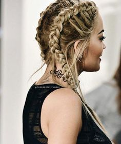 #Rita_Ora #braided_hair