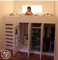 New Kids Clothes Storage Ideas Small Spaces Loft Beds Ideas