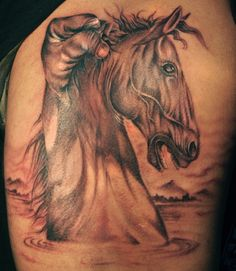 Horse itself is very loyal, intelligent and passionate animal. Nowadays these tattoos are on high demand. Here are some Simple and Catchy Horse Tattoo Designs Ideas.