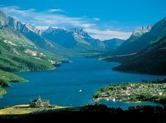 Waterton, Alberta, Canada (you can hike up to a ledge on a mountain and see the whole are from up there - Bear's Hump) love this hike!!!
