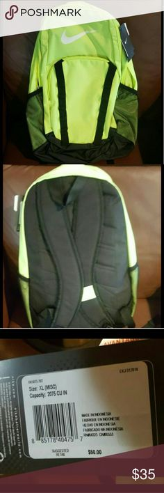 NEW Nike Brasilia 7 Backpack Some people on poshmark are charging you 80-90 for a brand new one when they coast 50 in stores lol and some are even charging you 55 for a use one  BRAND NEW WITH TAGS 38 FOR ONE  OR TWO FOR 72   4 left  Measurements: Bottom Width: 14 in Middle Width: 14 in Top Width: 7 1?2 in Depth: 7 1?2 in Height: 20 in Strap Length: 34 in Strap Drop: 15 1?2 in Handle Length: 8 in Handle Drop: 3 in Weight: 12 oz Nike Bags Backpacks