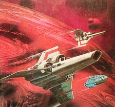 Mark Bright's 1982 cover art for War of the Gods, a Battlestar Galactica book by Glen A. Larson and Nicholas Yermakov Fiction Movies, Science Fiction Art, Kampfstern Galactica, Battlestar Galactica 1978, 70s Sci Fi Art, Horror, Space Battles, Classic Sci Fi