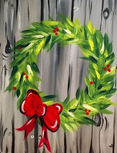 We host painting events at local bars. Come joi… Paint Nite. We host painting events at local bars. Come join us for a Paint Ni bars drink events host joi local Nite paint painting party winterbuck Winter Painting, Diy Painting, Painting On Wood, Christmas Art, Christmas Wreaths, Xmas, Christmas Ideas, Christmas Paintings On Canvas, Holiday Canvas