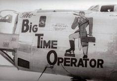 "B-24 Liberator ""The Big Time Operator"" nose art"