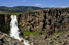 A view of Clear Creek Falls along the Silver Thread Scenic and Historic Byway - near Creede, CO
