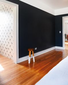 Benjamin Moore's Raccoon Fur - a pretty almost-black with a slight hit of blue.
