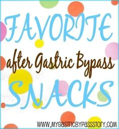Snacks After Gastric Bypass More Sleeve Diet