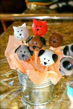 Cake pops: Perro & Gato.