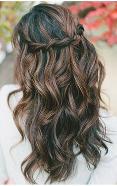 I'm liking these styles with the braid and curls.