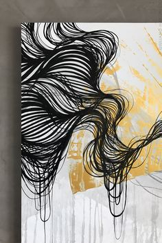Abstract line art, arte nas paredes, school murals, wall drawing, watercolo Art Inspo, Inspiration Art, Wall Drawing, Painting & Drawing, Art Abstrait Ligne, Stylo Art, Posca Art, Graphisches Design, Art Drawings Beautiful