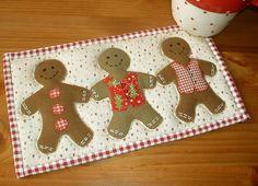 Gingerbread Man Mug Rug - via @Craftsy