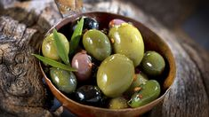 This seasoned olive recipe is a great midafternoon snack.