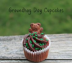 Groundhog Day Cupcakes - I have to remember these for next year!!