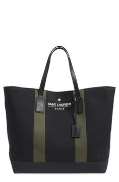 Saint Laurent 'Beach' Canvas Tote available at #Nordstrom