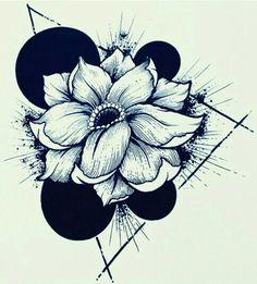 Flower tattoo geometric