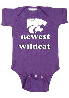 0ff5df1d6b9a77 K-State Wildcats Baby Purple Newest Short Sleeve One Piece - Image 1 Best  Auntie