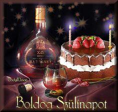 Athejezes a galeriaba Birthday Wishes, Happy Birthday, Birthday Cake, Name Day, Champagne Bottles, Calendar, Birthdays, Greeting Cards, Inspiration