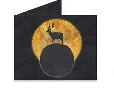 Artist Collective: Deer Walking On The Moon by Barruf