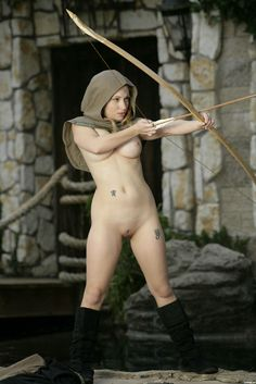 Sexy nude female archers really