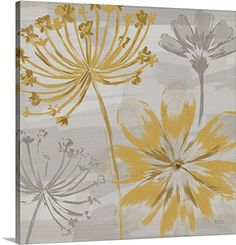 Veronique Charron Premium Thick-Wrap Canvas Wall Art Print entitled Flowers in the Wind II