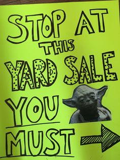 Getting ready to have a yard sale? You can make more money at your yard sale by having good signage. Check out these 20 funny yard sale signs! Yard Sale Signs Funny, Garage Sale Signs, Funny Signs, Garage Sale Organization, Next Sale, Yoda Funny, Rummage Sale, Sign Image, For Sale Sign