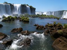 Iguazu Falls - on the border of the Brazilian State of Paraná and the Argentine Province of Misiones.