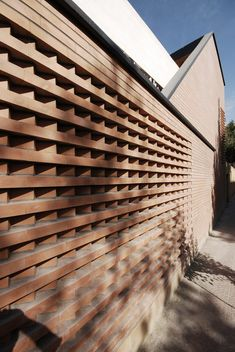 Gallery of atelier / use studio - 17 brick patterns кир Brick Cladding, Brick Facade, Brick Design, Facade Design, Brick Architecture, Architecture Details, Building Facade, Building Design, Brick Works