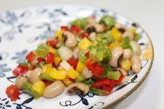 Salada de feijão-caupi