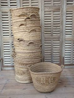 Nothing shouts summer like the texture of rattan, wicker, seagrass or for that matter natural wovens of any kind. Whatever that object. Old Baskets, Wicker Baskets, French Baskets, Bamboo Basket, Woven Baskets, Sisal, Rattan, Bountiful Baskets, Basket Bag