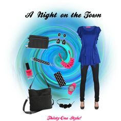 Night out on the town Thirty-One style with the Vary You Versatile Bag and Wristlet in BLACK QUILTED DOTS. https://www.mythirtyone.com/504548/