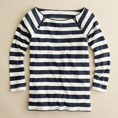 My love affair with stripes...stripe boatneck with zipper detail