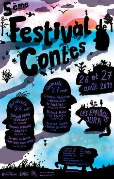Festival poster by FLAG, Switzerland.