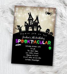 Baby Shower Invites For Girl, Baby Shower Invitations, Birthday Invitations, Halloween Invitations Kids, Spooky Costumes, Elegant Invitations, Invitation Design, Wedding Prints, Print Packaging