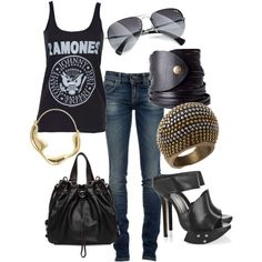 Ramones-- minus those shoes i love this outfit