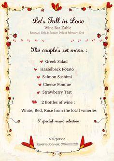 Design di menù illustrato a mano o inviti di matrimonio, decorazione personalizzata menù listini volantini per caffetteria, bar, ristorante, di ElettraArt su Etsy