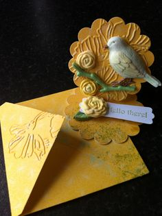 Mini, mini Card with clay embellishments
