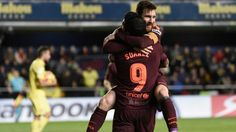 Lionel Messi's goal against Villarreal took his league-leading tally to 14 for the season. (Photo: AP)Barcelona: Lionel Messi and Luis Suarez scored a