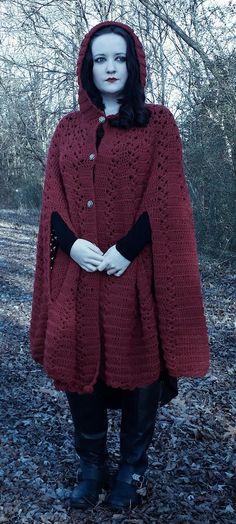 Crocheted cloak.