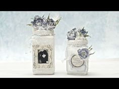 (533) Słoiki ślubne i kwiaty z foamiranu - DIY tuturial - YouTube Mixed Media Tutorials, Mixed Media Art, Diy Tutorial, Mason Jars, Bottle, Decoupage Ideas, Hobby, Vintage, Youtube