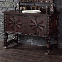 "Bathroom Vanity In Spanish moroccan style bathroom vanities | monterey 72"" bathroom vanity"