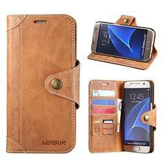 Lensun Housse Etui Cuir Portefeuille avec Horizontale Rangements de Cartes et Fermeture Aimantée, pour Samsung Galaxy: Étui en cuir :…