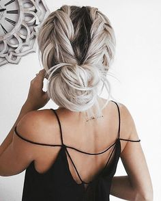 Perfection 💙 #brainwashkappers #hairdresser #hairinspo #hairofinstagram #grannygrey #braid