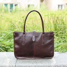 a3585650e2 Handmade Full Grain Leather Work Tote Bag. Sacs Fourre Tout En CuirSac À  MainFemmesSacs ...