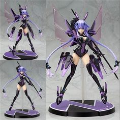 63.99$ Buy here - http://aliyi6.worldwells.pw/go.php?t=32693799535 - New 1PC 32CM Kawaii Anime Hyper Dimension Game Neptune Purple Heart Neptune Goddess PVC Action Figure Collectible Model Toy 63.99$