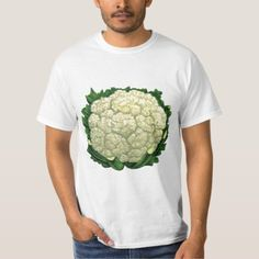 Vintage Food Vegetables Veggies Cauliflower T-Shirt - tap, personalize, buy right now!