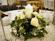 Wedding table flower decorations