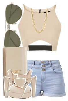 """."" by trillest-queen ❤ liked on Polyvore featuring Topshop, Vero Moda, Yves Saint Laurent and Forever New"